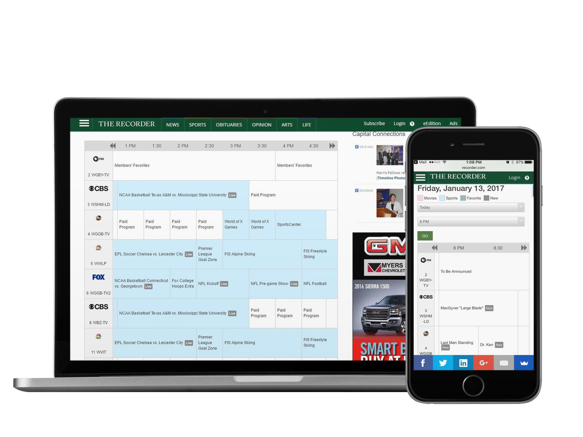 TV Listing Widgets For Your Website — TV Media