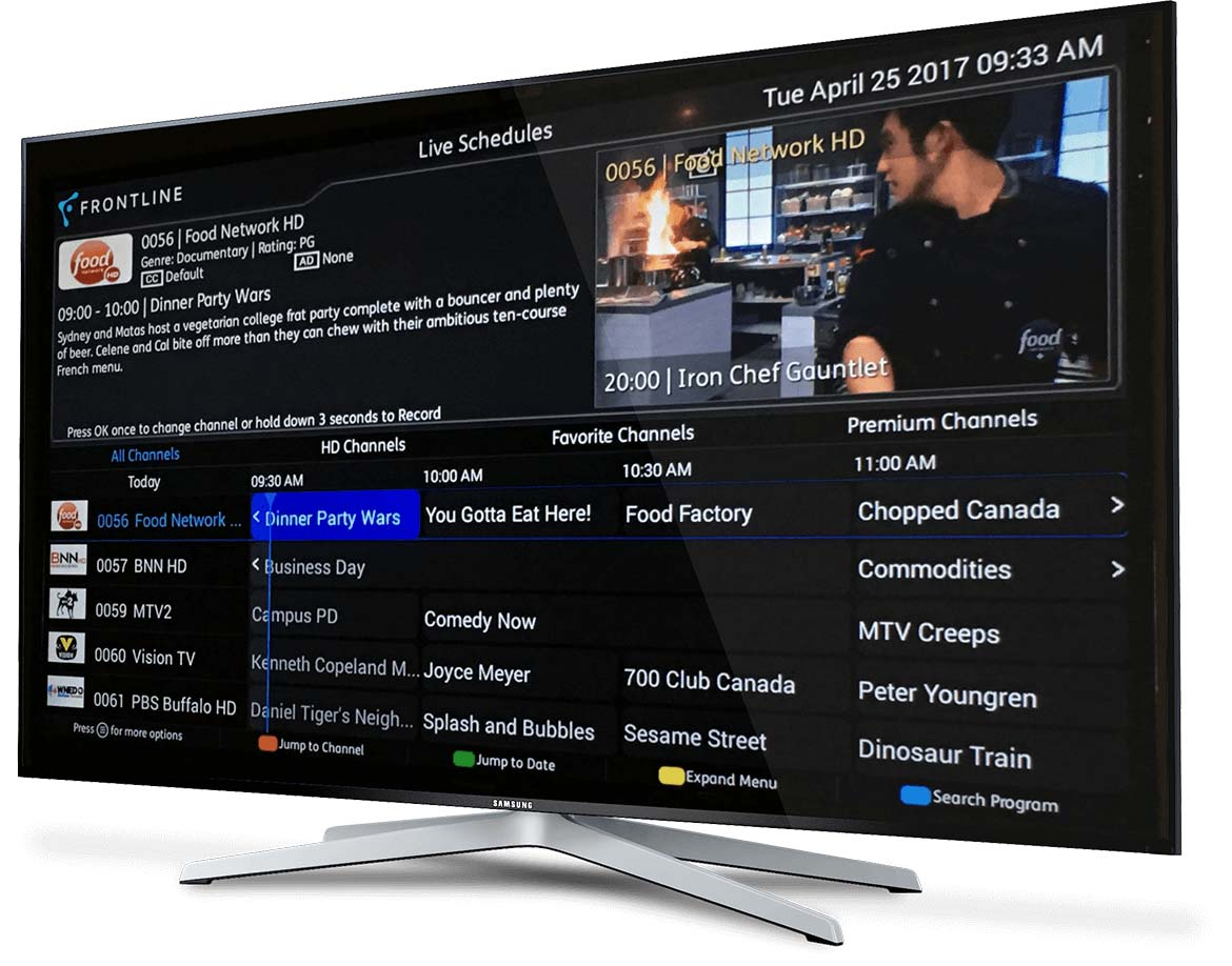 TV listing solutions for cable, IPTV and satellite provides.