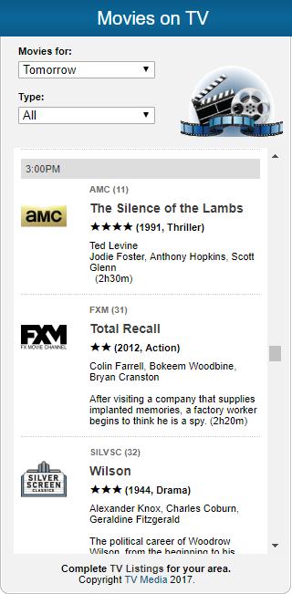 TV Media Movie Widget